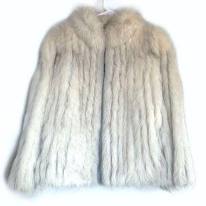Vintage Silver Saga FOX fur coat